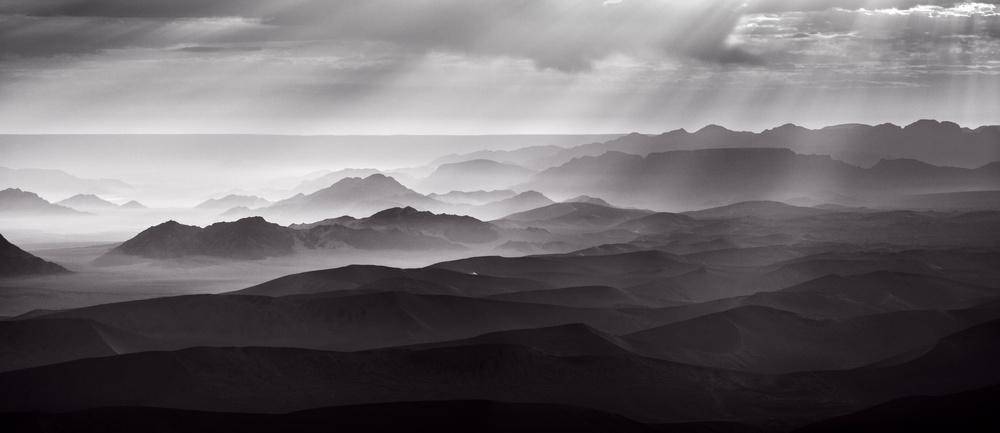 Poster Namib Desert by air