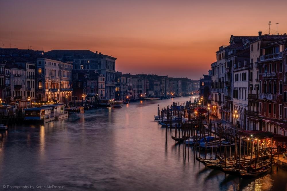 Fotokonst Venice Grand Canal at Sunset