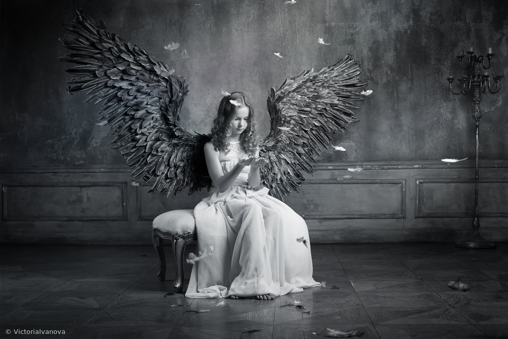 Fotokonst The sad angel