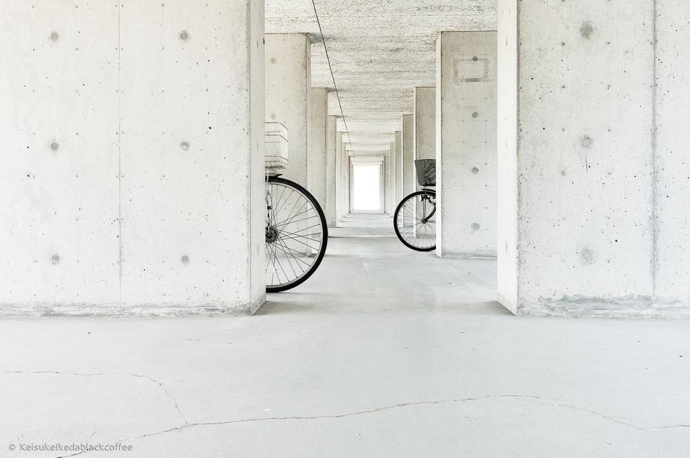 Fotokonst  white basket,black basket