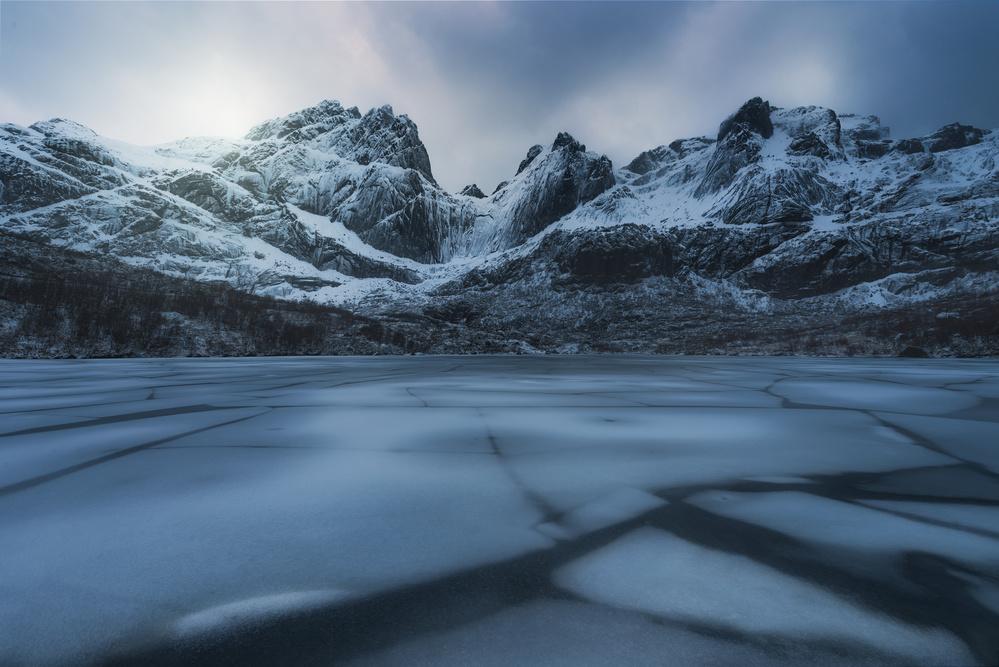 Fotokonst Ice craking