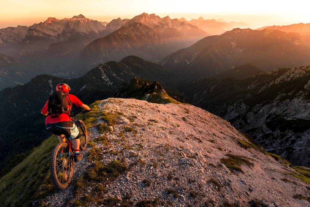 Fotokonst Riding ridge singletrack