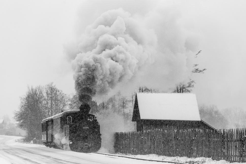 Fotokonst Old train Hutulca