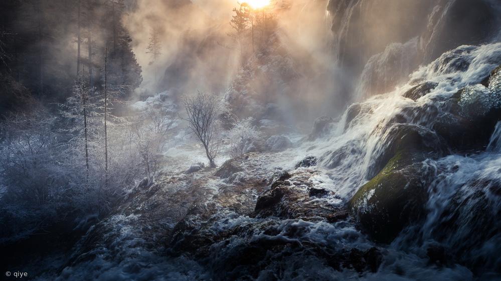 Fotokonst Jiuzhaigou China 《天堂奇境》
