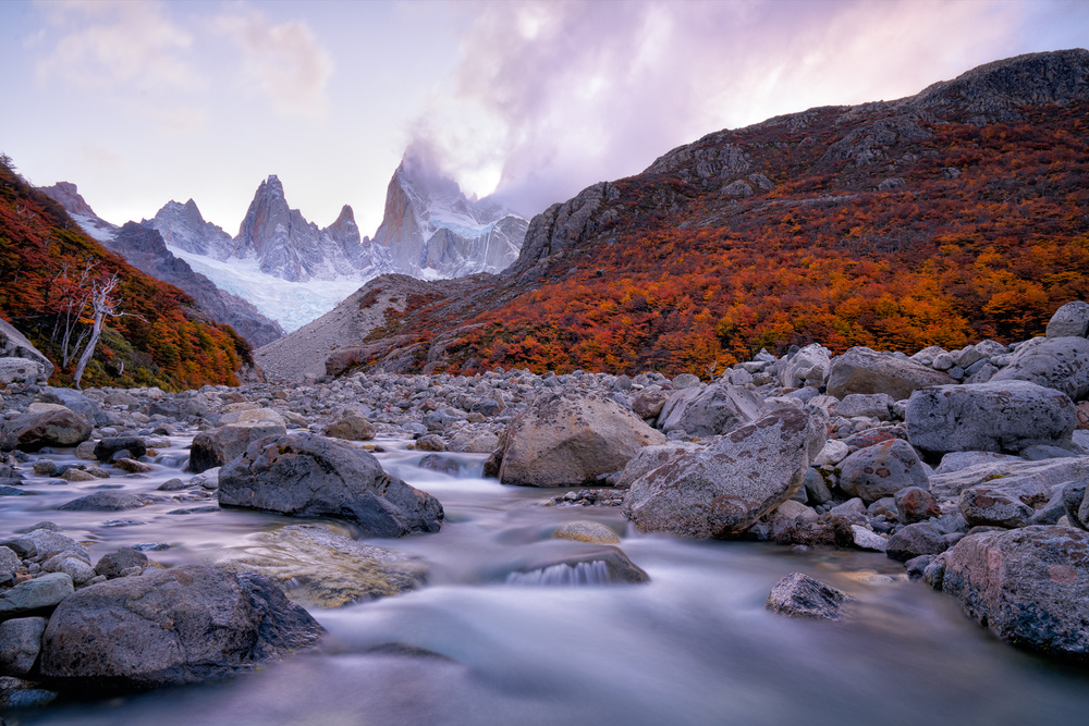Poster Fitz Roy under Twilight
