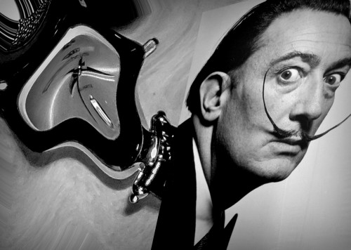 A tribute to Salvador Dali by Orkidea White