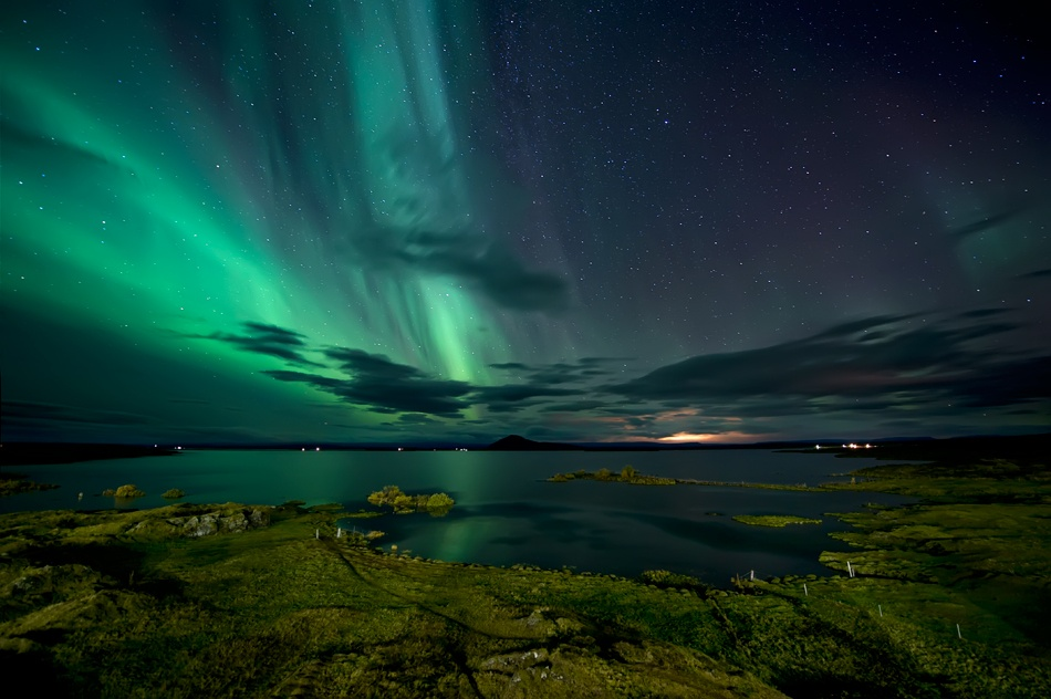 Fotokonst Mývatn Lake