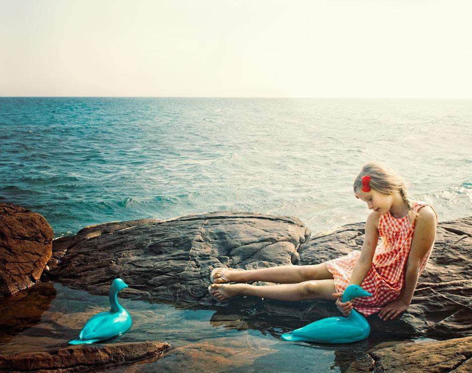 Fotokonst swan lake