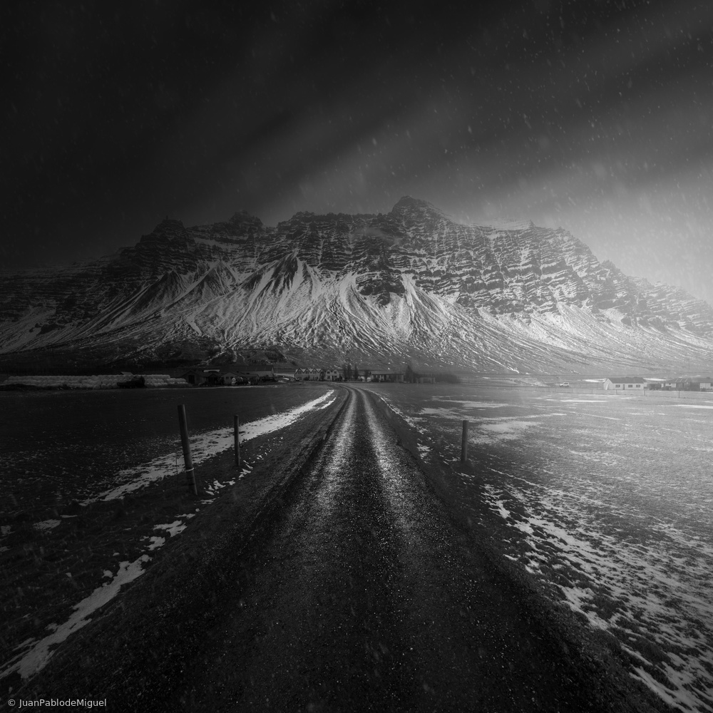 Poster Iceland Road