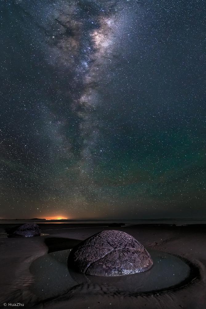 Fotokonst Big eye looking up sky