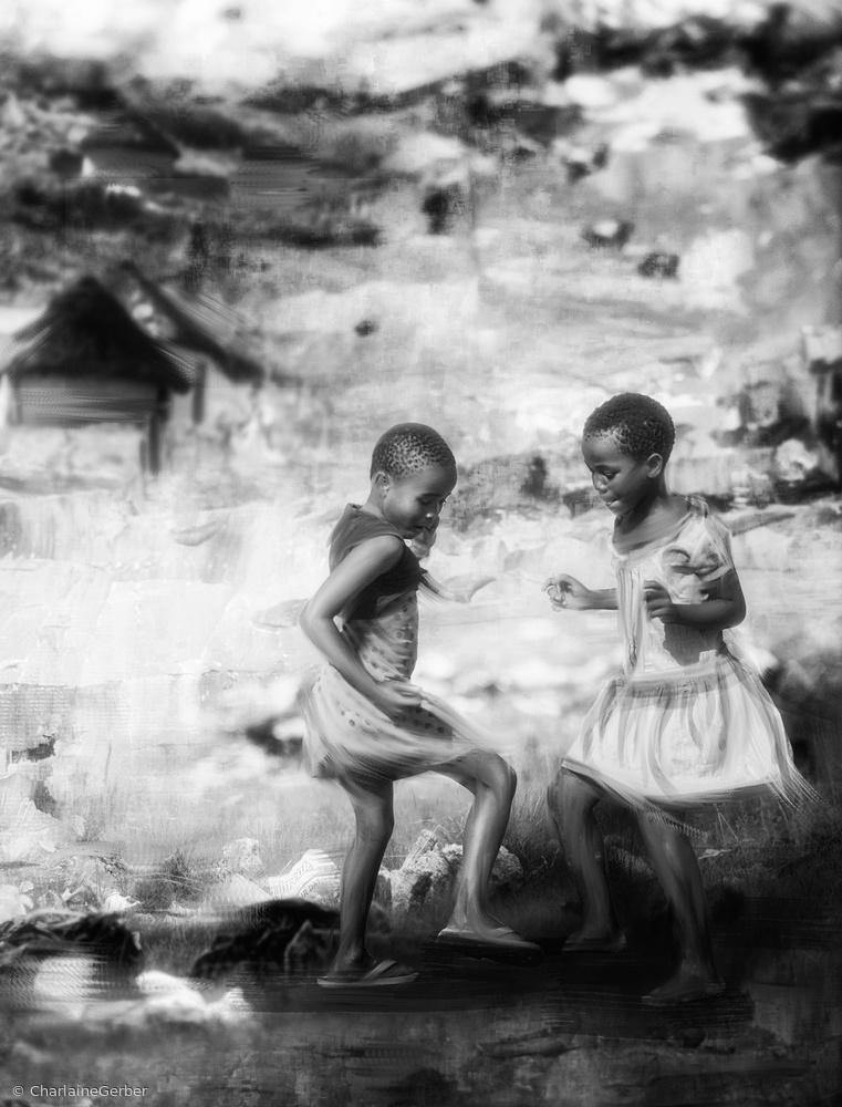 Fotokonst And the children dance along