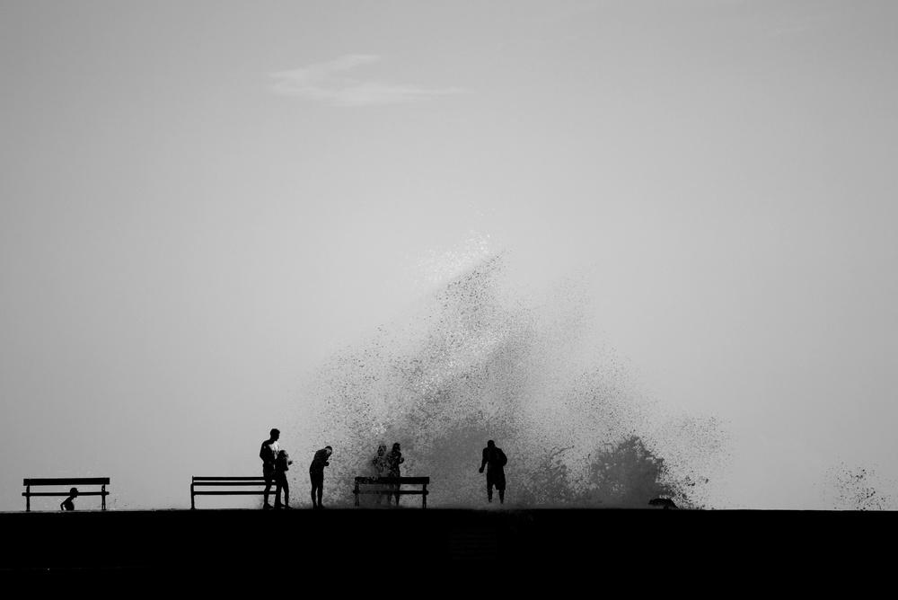 Fotokonst Hit of the wave