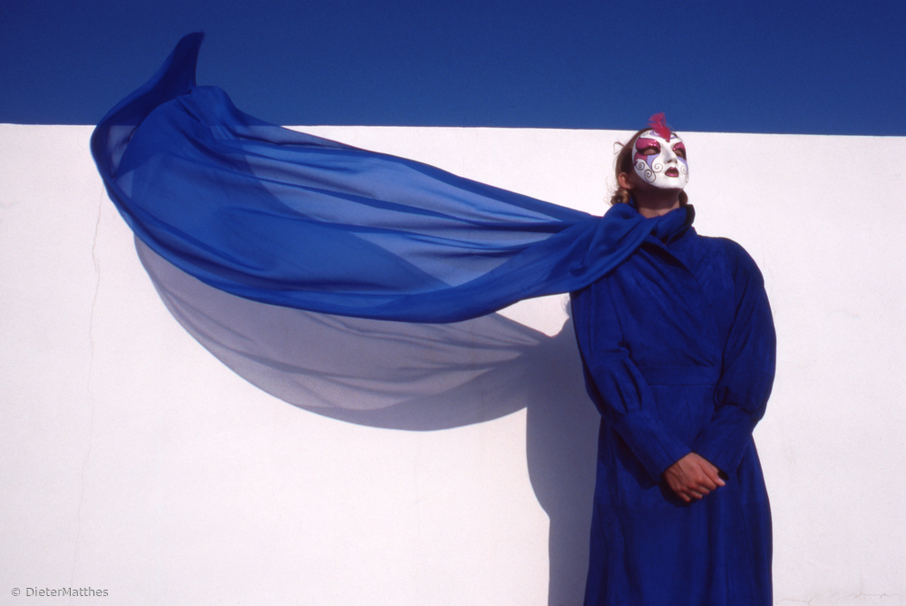 """Fotokonst Dreaming in white blue (from the series """"Imaginations incognito"""")"""