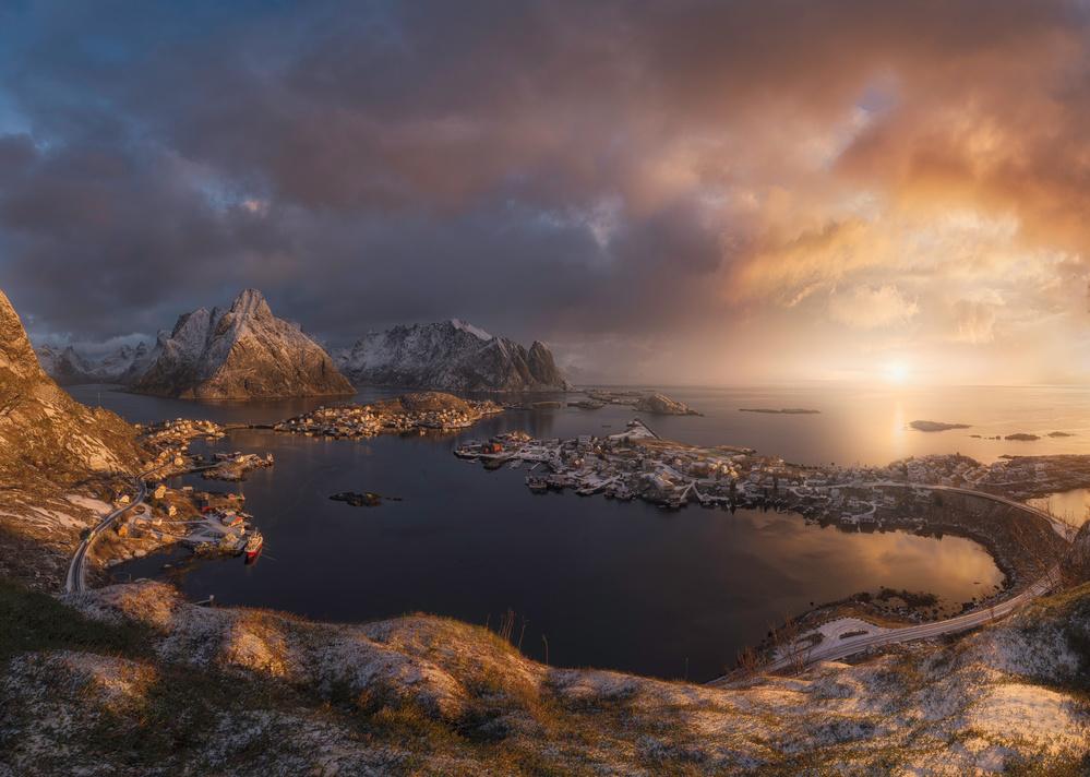 Fotokonst Sunrise over Reine