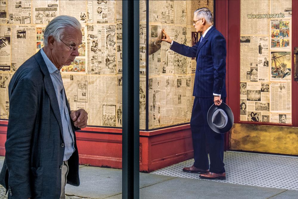 Fotokonst two very serious men