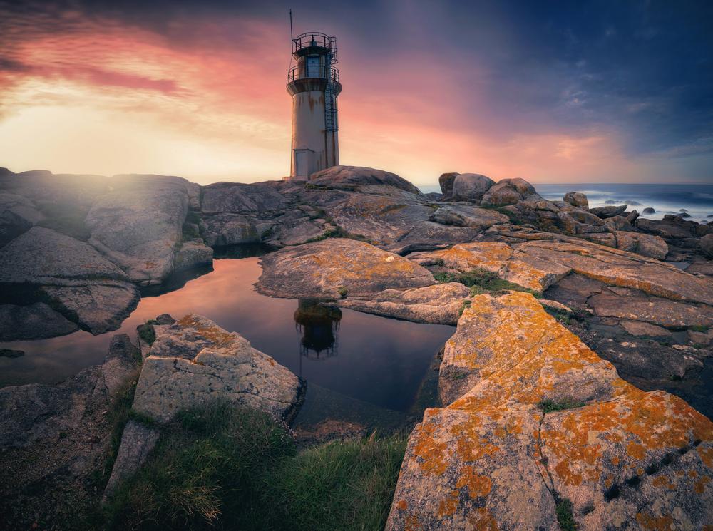 Fotokonst Sunset light
