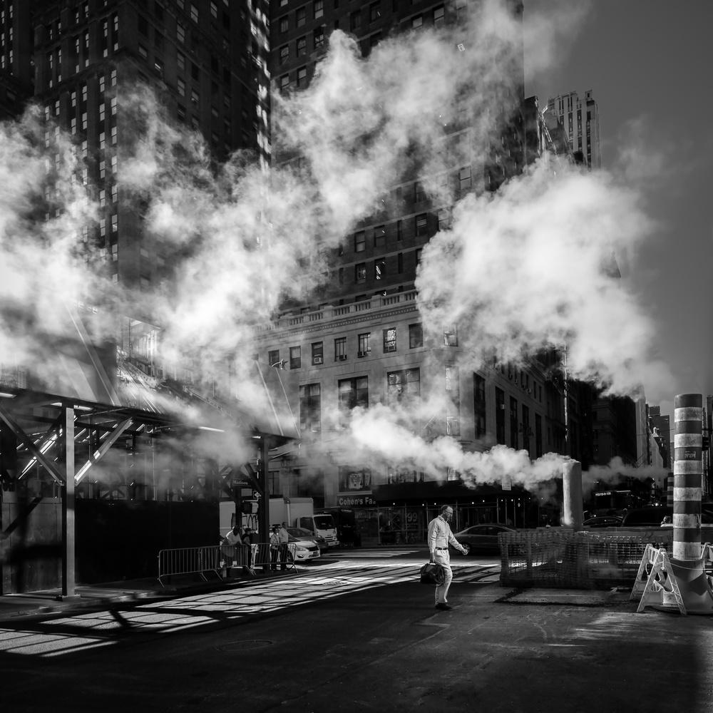 Fotokonst Steaming