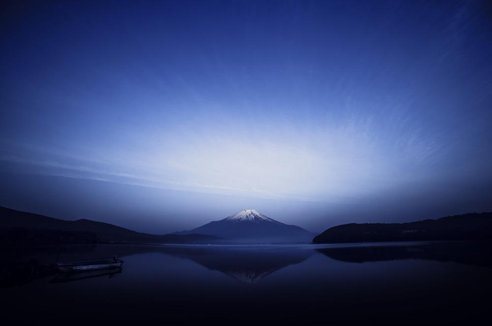 Fotokonst Early morning blue symbol