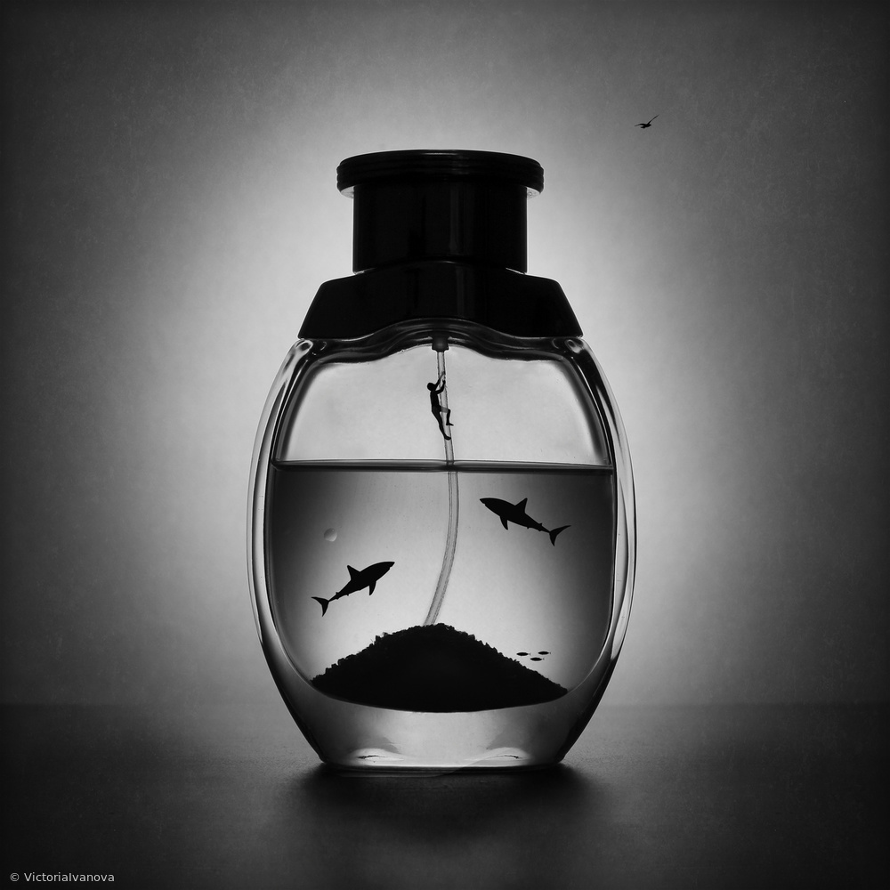 Fotokonst The aquatic marine perfume