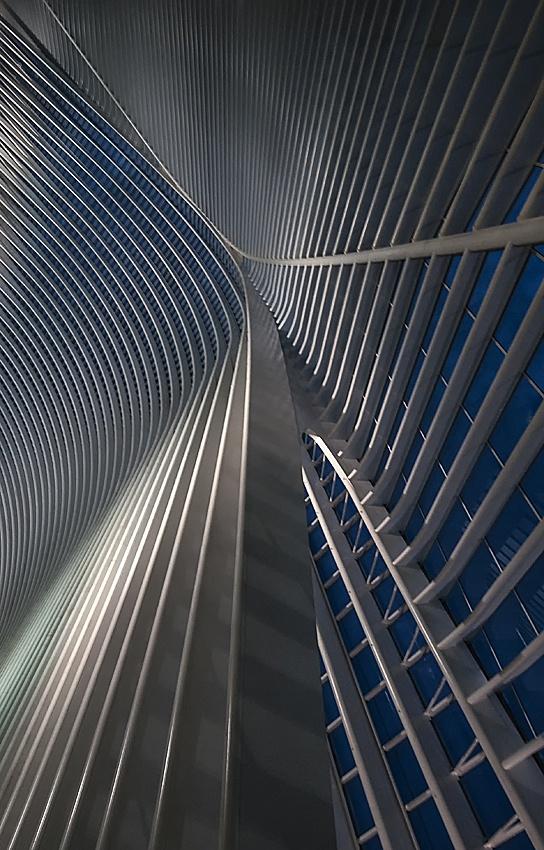 Poster Calatrava lines at the blue hour