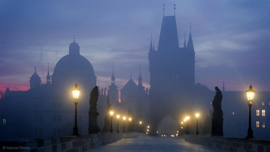 Fotokonst Prague is awakening