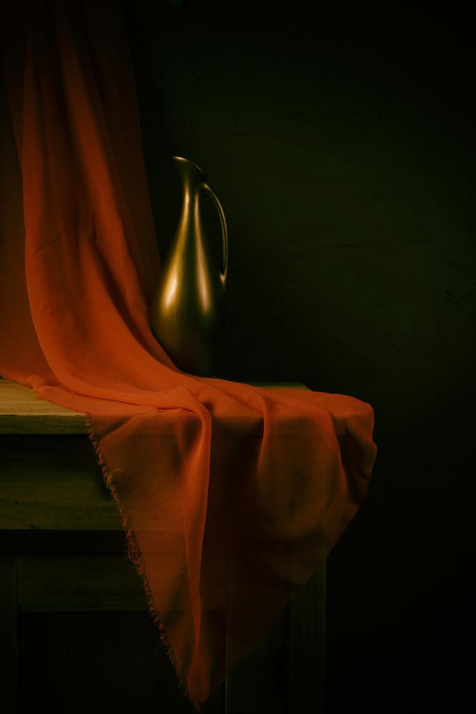 Fotokonst Still life with a red cloth