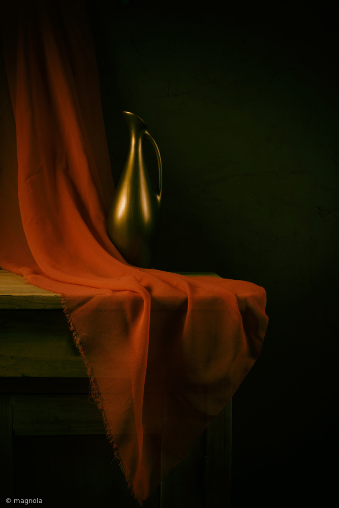 Fotokonst Still life with a red cloth