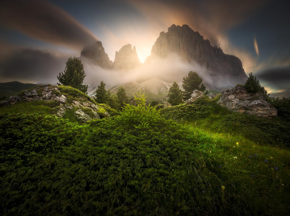 Fotokonst Dolomia Sunset