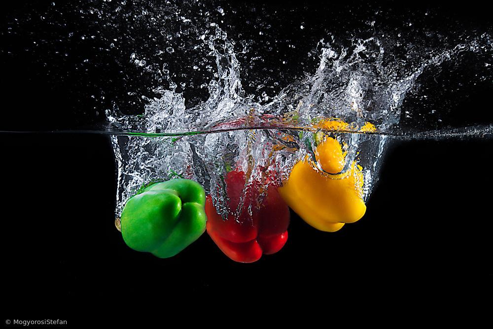 Fotokonst Paprika splash