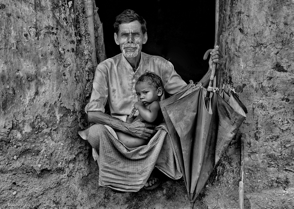 Fotokonst Grandfathers Lap