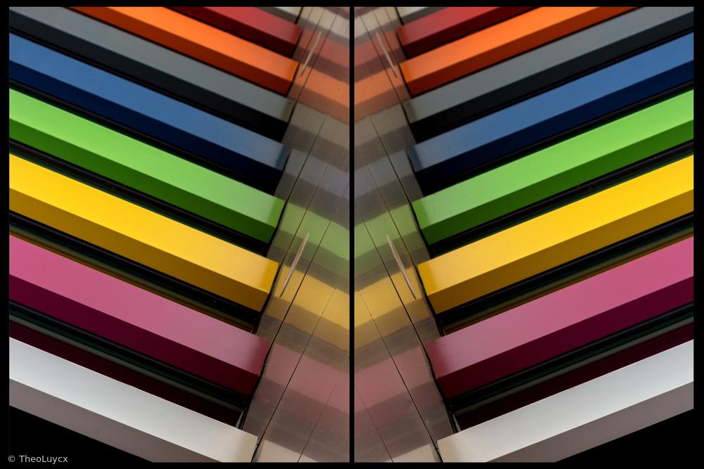 Fotokonst The coloured V