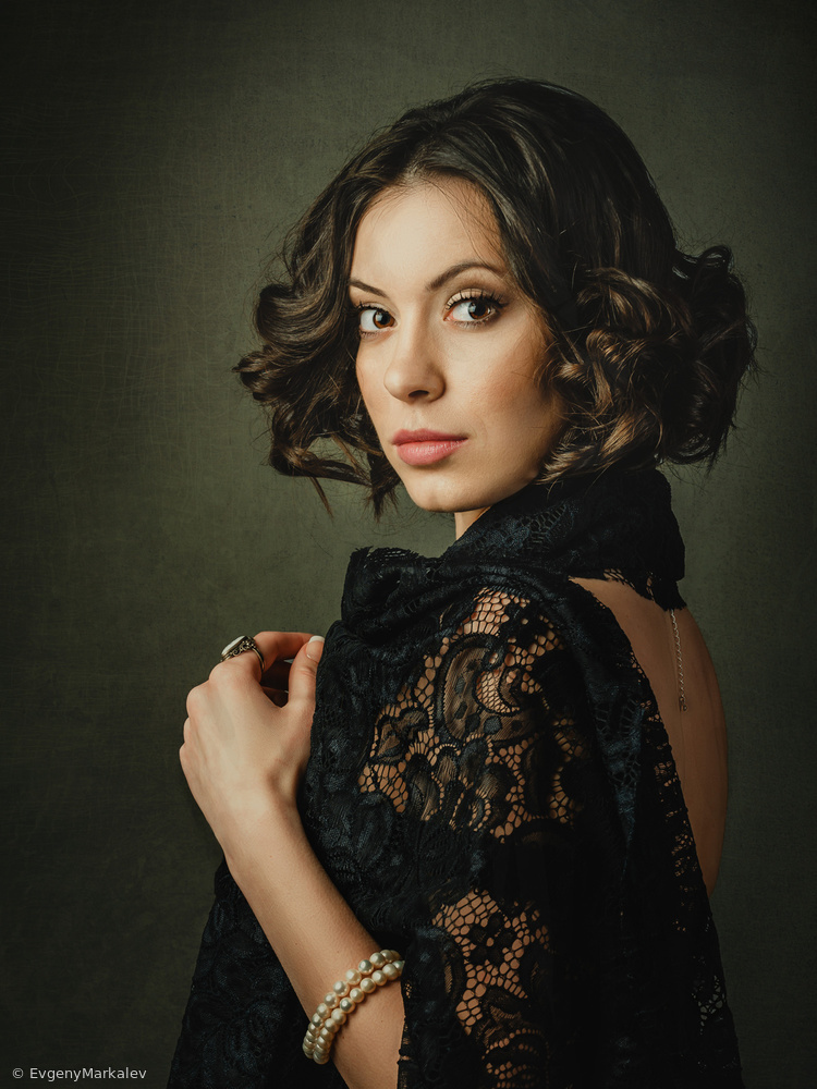Fotokonst Lady in black