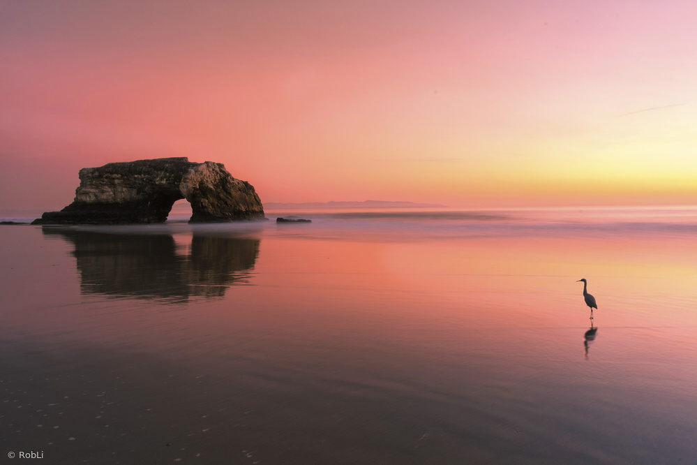 Fotokonst Sunset at the Natural Bridge-2