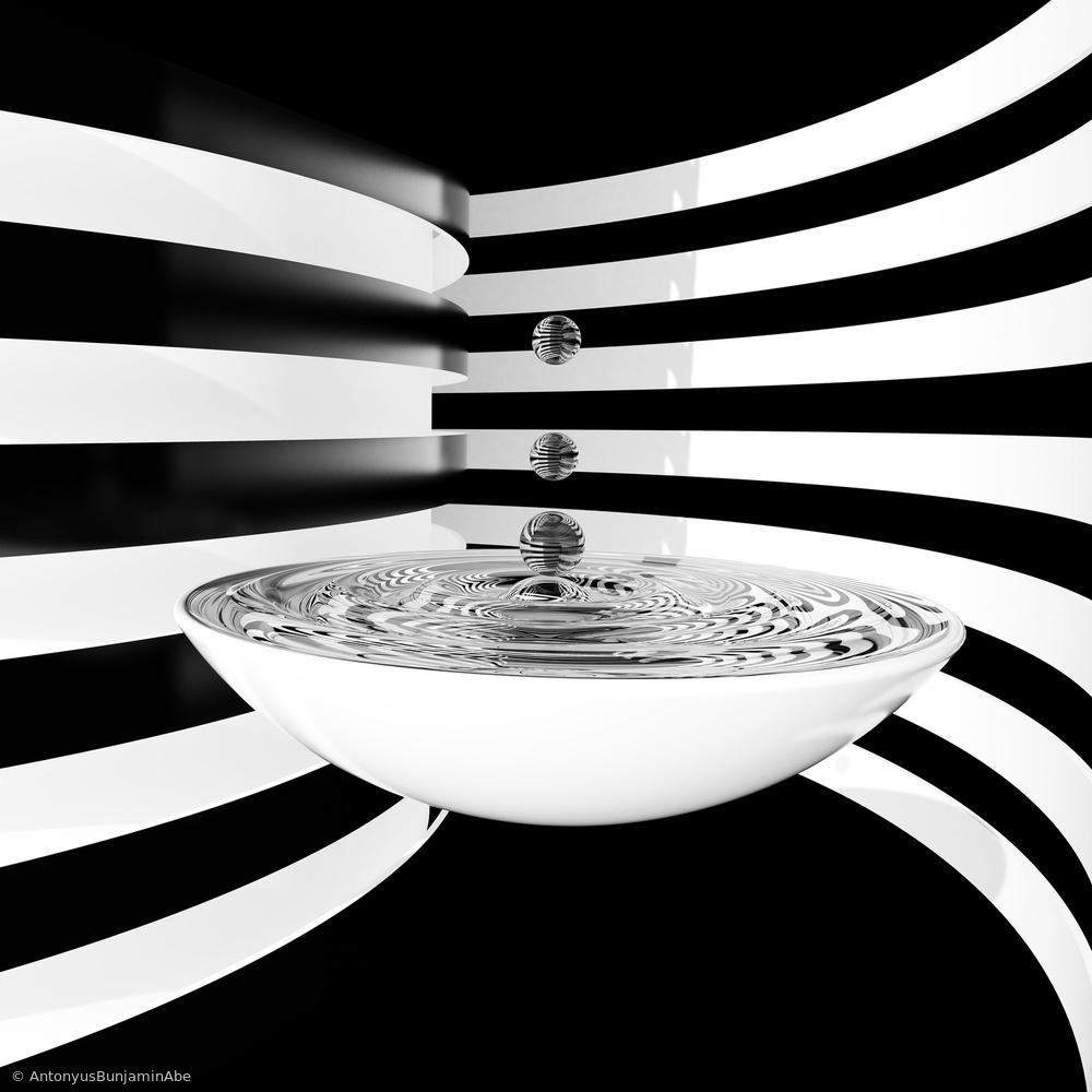 Fotokonst Water Strips
