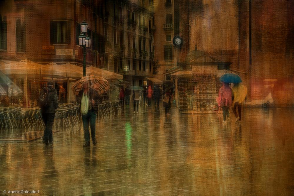 Fotokonst blue umbrella