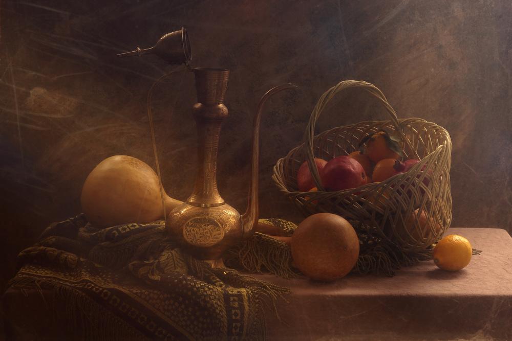 The  Pumpkins and Fruit Basket
