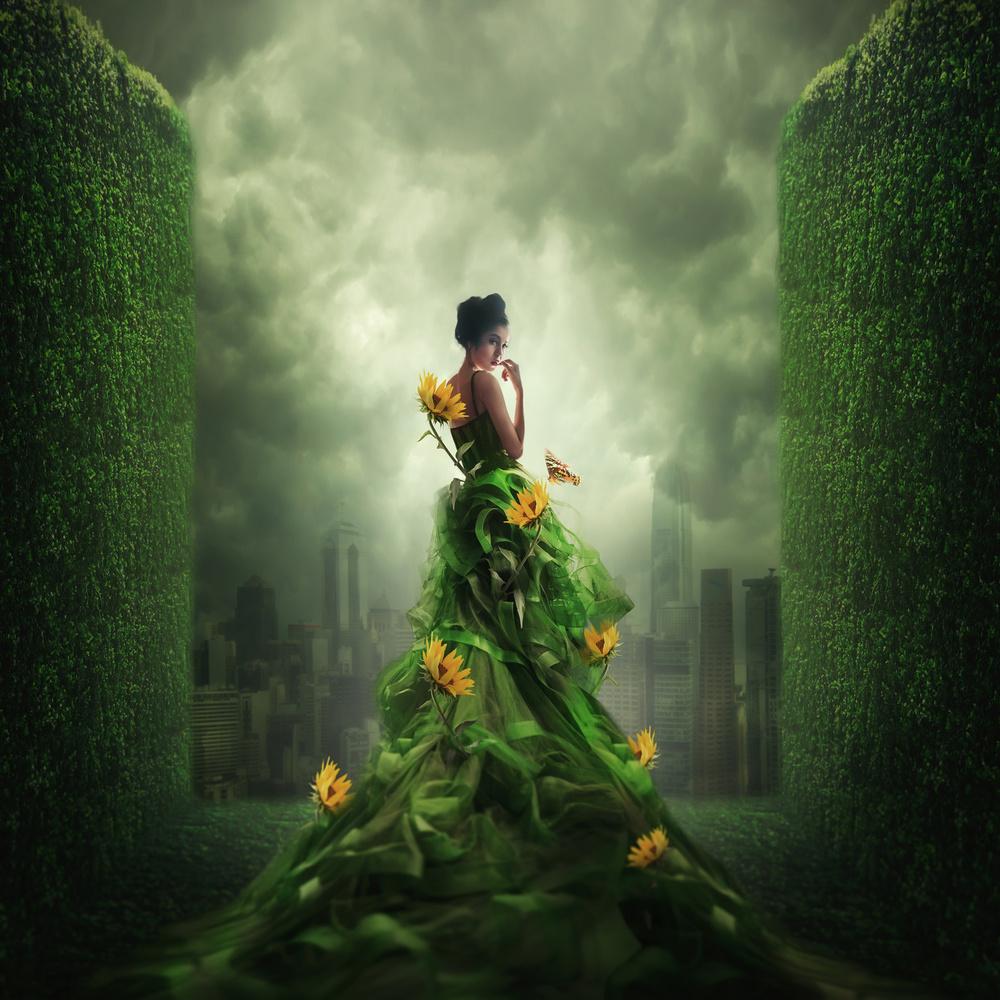 Fotokonst Go Green