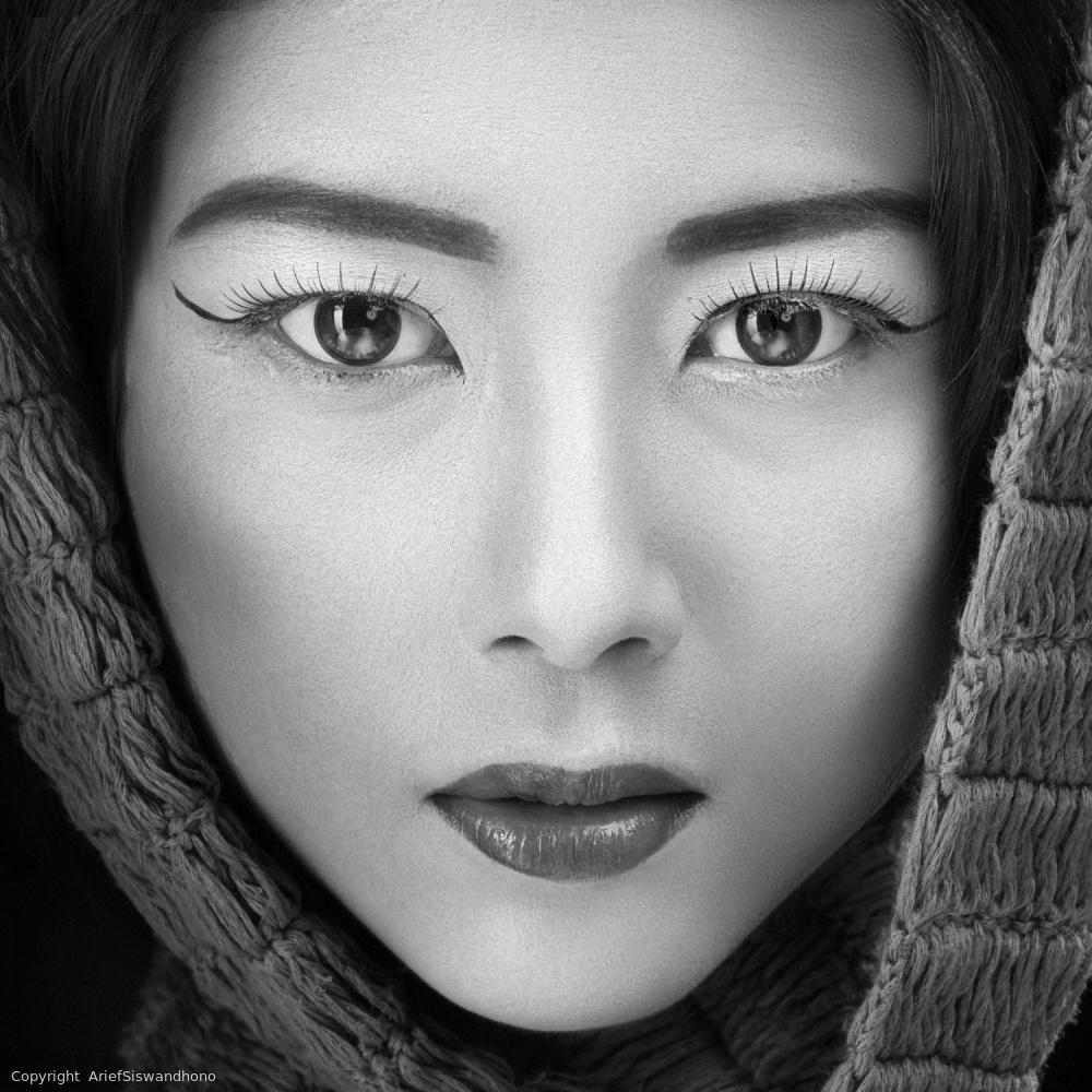 Fotokonst portrait of icha