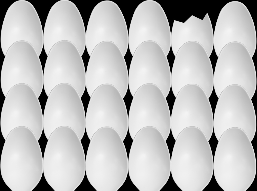 Poster Spoons Abstract: Eggs