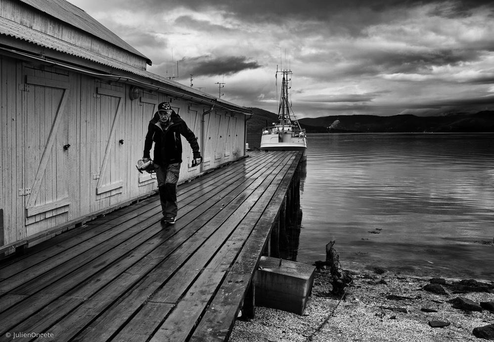 Fotokonst Storm in the fjord