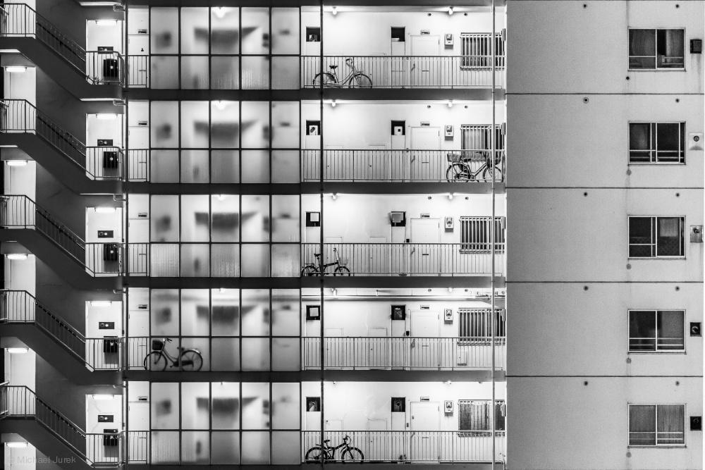 Fotokonst Tokyo - Five Bikes