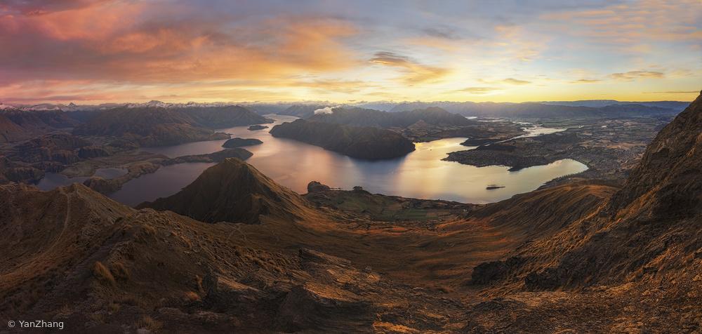 Fotokonst Roys Peak - Panorama View