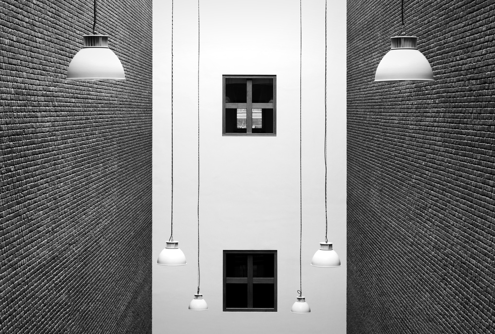 Poster Arrangement of lamps and windows