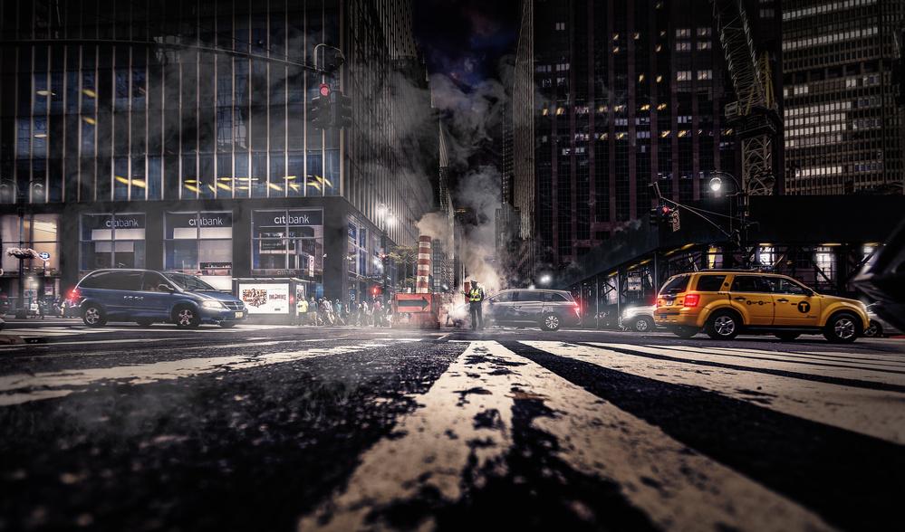 Fotokonst Gotham - Breaking Dawn