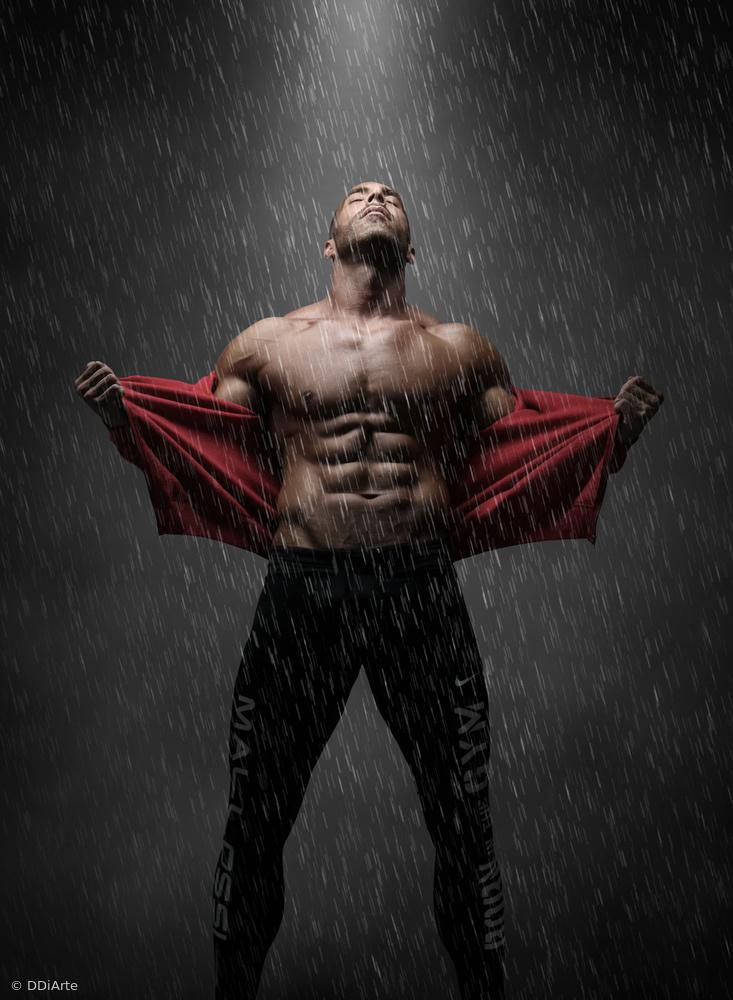 Fotokonst He is in the rain!