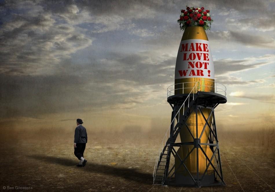 Poster Make love, not war !