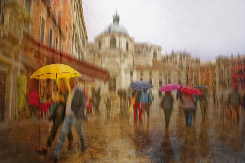 Fotokonst colorful umbrellas
