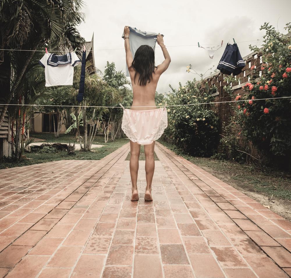 Fotokonst Grandmas panties are dry