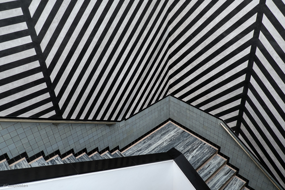 Fotokonst an overload of stripes