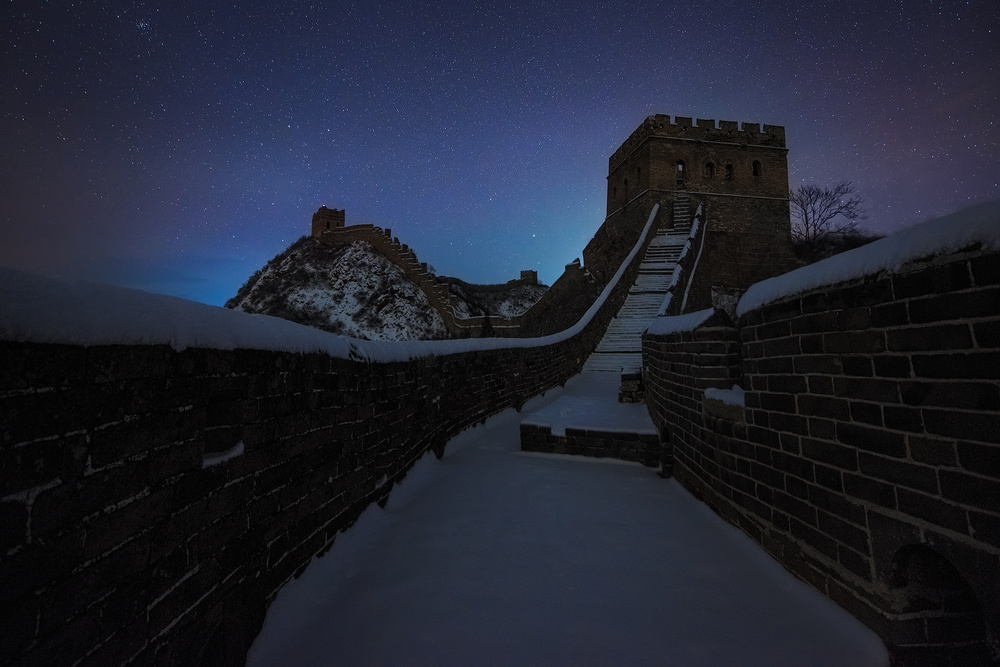 Poster Starry Sky over Great Wall
